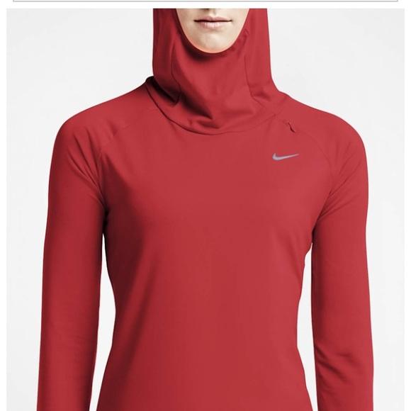 Nike Element Women's Running Hoodie Red Orange XS